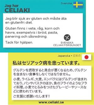 svenska celiakiförbundet översättningskort